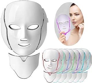 Lichttherapie Mask, 7 kleuren Led gezichtsmasker Lichttherapie Behandeling Anti-Aging Acne Vlekken verwijderen Rimpels Whi...