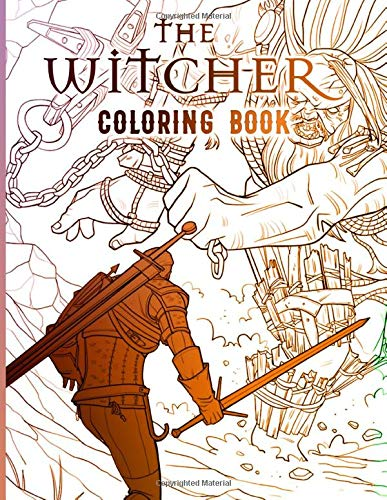 The Witcher Coloring Book: Relaxing The Witcher Coloring Books For Adults, Teenagers