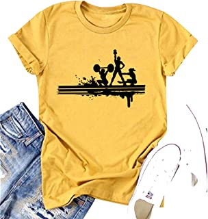 Yoga Squat Dumbbell Graphic Shirts for Sports Lovers Women Inspirational Athletic O Neck Short Sleeve Tee Tops