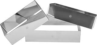NewlineNY Stainless Steel 3 Sizes Rectangular Molding Forming Layering Cake Pastry Rings 3 In 1 Set Rectangular Cake Pastr...