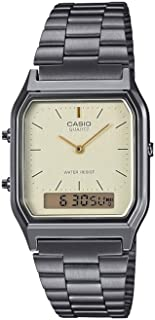 Casio Collection Retro Womens Analogue-Digital Watch AQ-230EG with Stainless Steel Strap