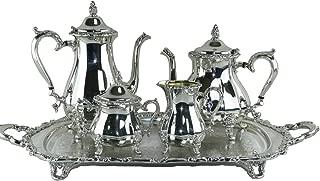 5 piece silver tea set