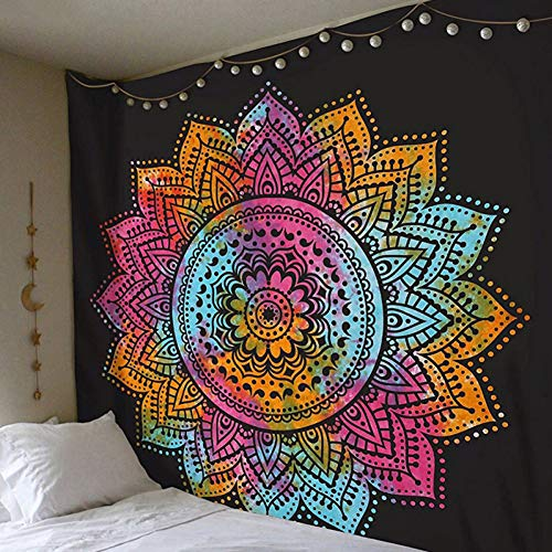 N / A Tapestry Bohemia Mandala Floral Carpet Tapestry For Wall hanging Decor Fashion Tribe Style yoga mat/picnic cushion/beach towel
