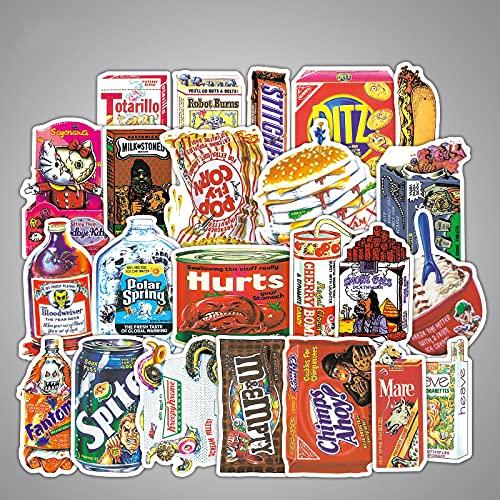 YMSD Spoof alimentos equipaje pegatina maleta skateboard guitarra impermeable etiqueta de dibujos animados personalidad graffiti pegatina 38 unids