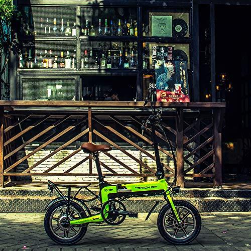 RICH BIT 250W Bicicletta elettrica RT619 pedalata assistita Bicicletta 36V * 10.2 Ah Bicicletta da Città per Donna (Green)