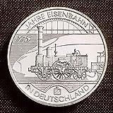 – Deutschland (2010) Silbermünze, 175 Jahre Eisenbahn in Deutschland