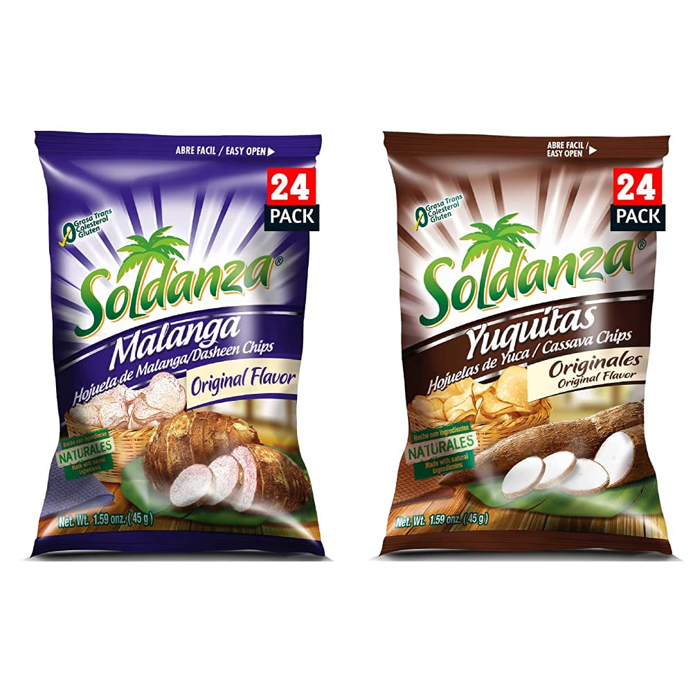 Soldanza Cassava Chips 1.59 Ounce 24 and Superior of Pla Spasm price Pack