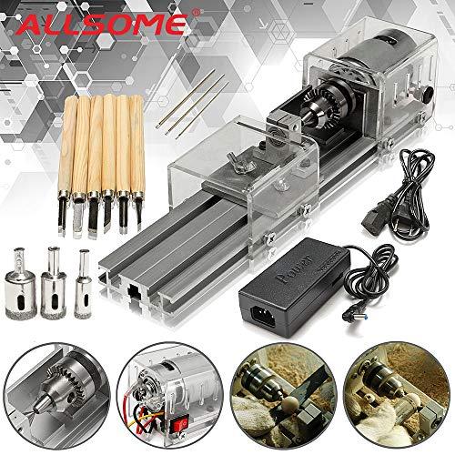 HBSHR Sägemaschine Mini-Drehmaschine Werkzeugmaschinen DIY Holzbearbeitung Drechseln und Fräsmaschinen Schleifen Polieren Perlen Bohren Rotary-Werkzeug-Set-Kit, Versenden von: China