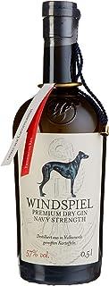 Windspiel Premium Dry Gin Navy Strength 57 % vol. 1 x 0,5 Liter - International ausgezeichneter Manufaktur Gin in geschmacksintensiver Navy Stärke aus der deutschen Vulkaneifel