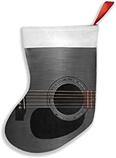 Luckye-ltd Ash Black Acoustic Guitar Christmas Stockings Classic Decoration for Family Holiday Xmas Party Set of 2