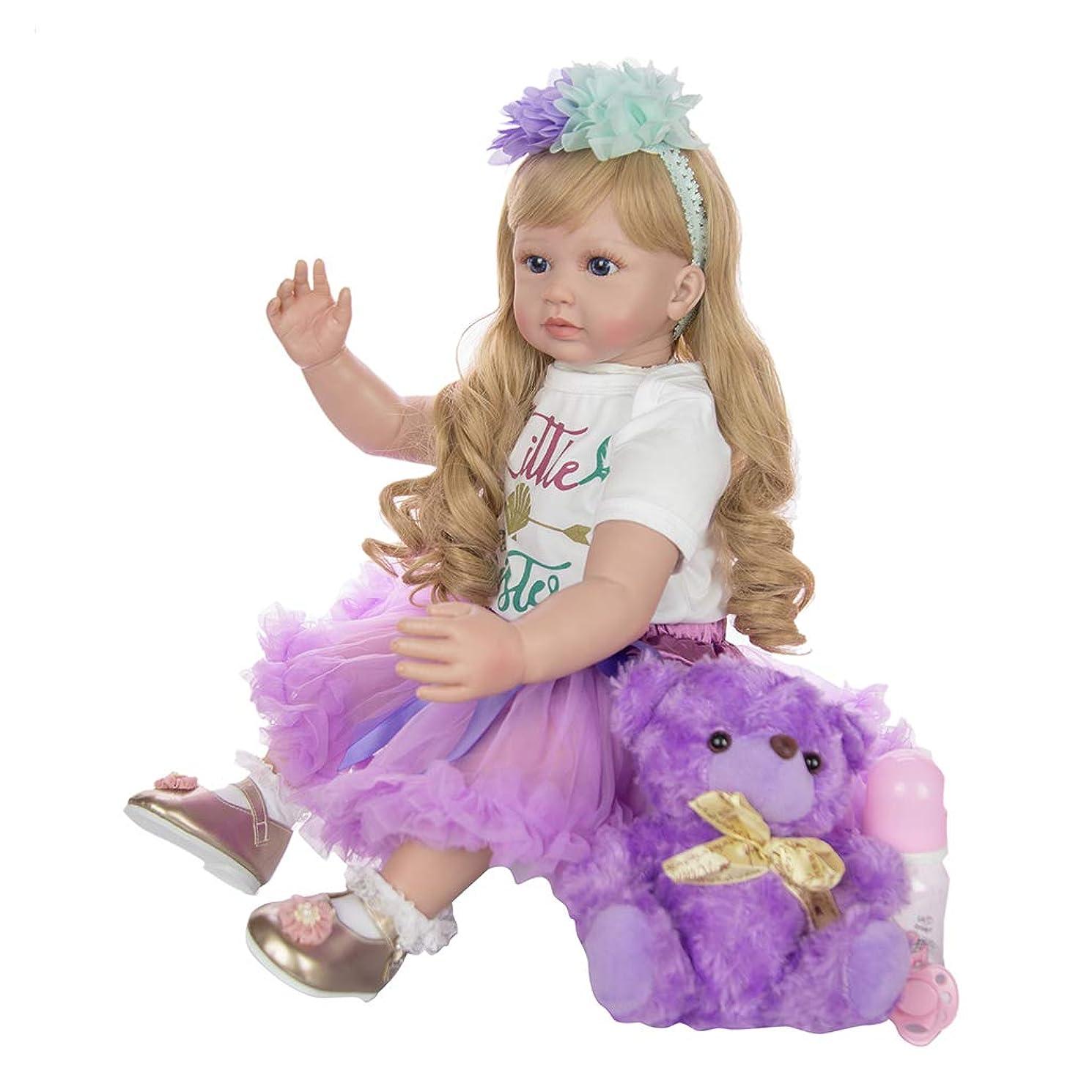 装備する送料面倒Toygogo リアル人形 ドール 幼児 女の子 本体 巻き毛 可動ボディ 着せ替えセット 手作り ギフト 60cm