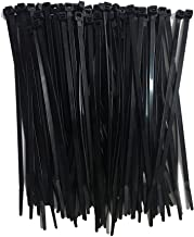 U-horizon 100 Pack Cable Ties, 200mm x 4.6mm High Quality Strong Nylon Zip Ties Wraps, Black