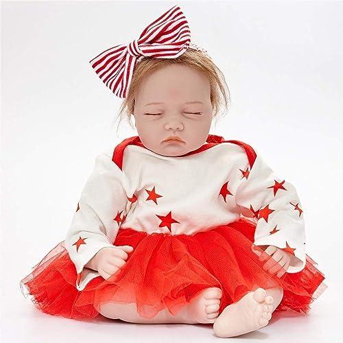 Hongge Reborn Baby Doll,Lebensechte Wiedergeburt Puppen Realistische Babypuppen 55cm