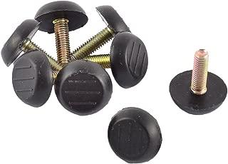 Antrader Home Metal Adjustable Threaded Stem Furniture Table Desk Glide Leg Leveler Leveling Foot Adjuster Pad 23mm Base Dia, Pack of 16