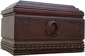 JCCOZ-URG Human Keepsake Jar Cremation Urns for Adult Ashes, Magnificent Wood Urn(Rosewood, 380 Cubic Inches) JCCOZ-URG