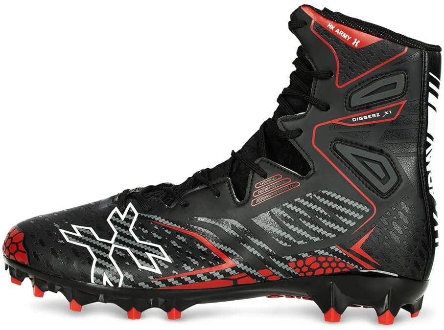 HK Army Digger X1 Hightop Paintball Black Cleats Red 14 Very popular! Max 70% OFF -