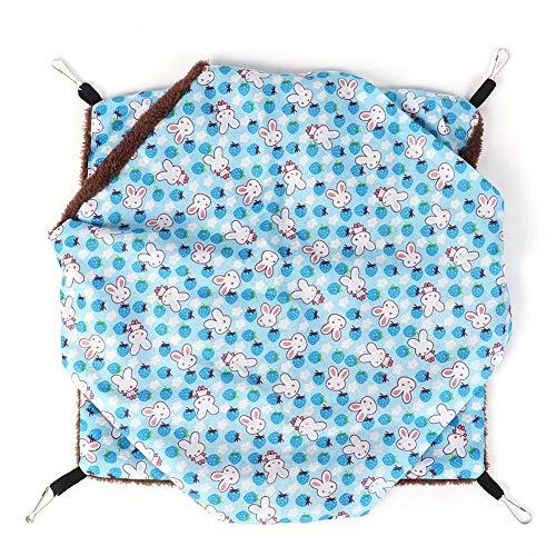 Hangende hangmat, hamster Dubbelzijdige kooi hangmat Huisdierenslaapmat Tweelaags tussenlaag Klein huisdiernest Hangend slaapbed voor hamster Eekhoorn(S)