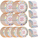 200-Pices Easter Party Supplies Paper Disposable Plates and Napkins Bulk