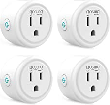 Smart plug, Gosund Mini Wifi Outlet Works with Alexa, Google Home, No Hub Required, Remote Control Your Home Appliances fr...