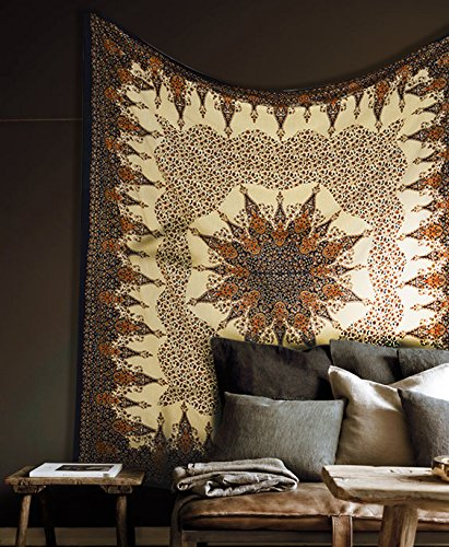 Top mandala tapestry brown for 2020
