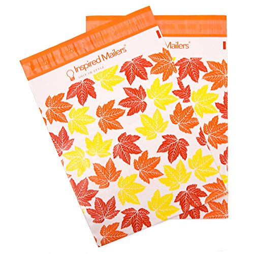 Inspired Mailers - Poly Mailers 10x13-100 Pack - Jack-O-Lanterns - Halloween Mailing Bags - Plastic Bags for Shipping - Package Envelopes - Cute Shipping Bags for Clothing