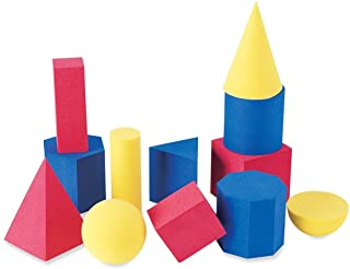 Learning Resources Hands-On Soft Geosolids, Soft Foam 3D Shapes, Set of 12, Ages 5+