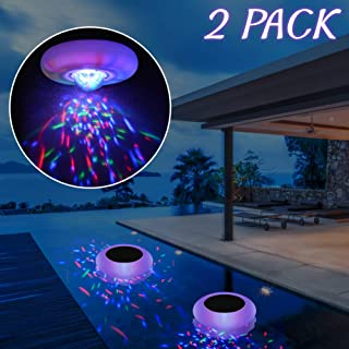 SHOO-IN Solar Floating Pool Ball Light Multi Color Waterproof,Swimming Floating Lights for Pond,Patio Decorative Lighting, Disco Pool Party or Pond Decorations