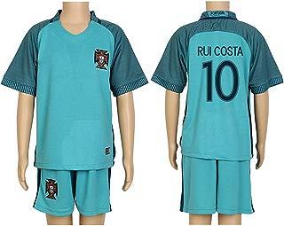 2016 UEFA Euro #10 Rui Costa Green Away Kids Soccer Jersey & Short Kit Set