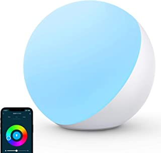 AUKEY Smart Table Lamp, Bedside Lamps for Bedrooms Work with Alexa and Google Home, Dimmable RGB Color Changing and Tunabl...