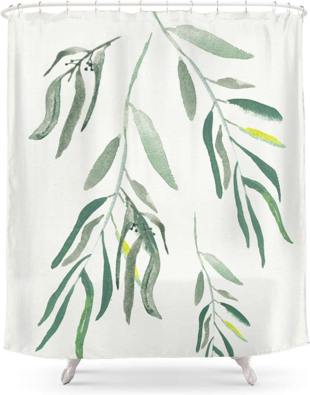 Society6 Eucalyptus Branches Ii by on Lavieclaire Long Beach Mall Curtain Shower Ranking TOP13