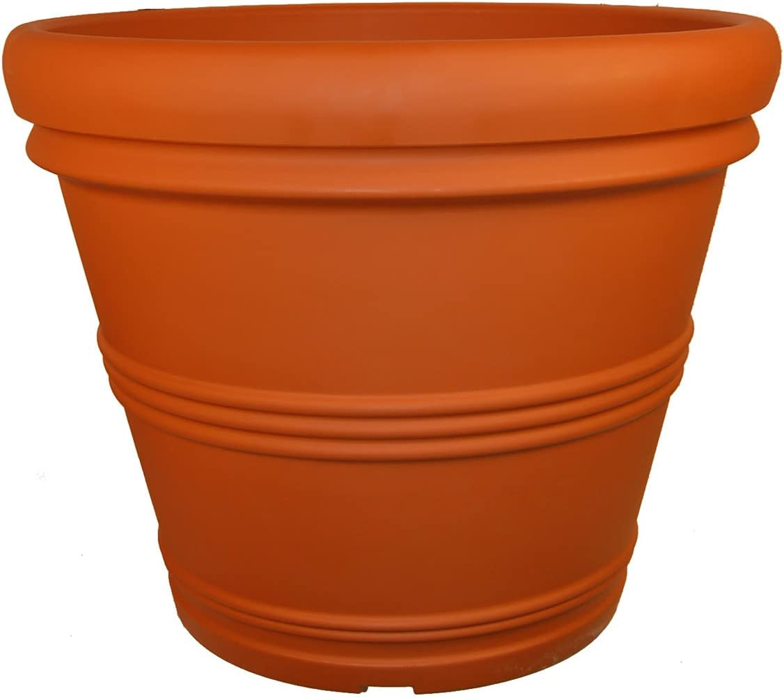 Tusco Ranking TOP16 Products RR20TC Rolled Cheap mail order shopping Rim Terra Garden Cotta Planter