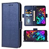 WWAAYSSXA Compatible with Razer Phone 2 Wallet Case Wrist Strap Lanyard Leather Flip Cover Card Holder Stand Cell Accessories Folio Purse Credit ID Slot Phone Cases for RazerPhone2 Women Men Blue