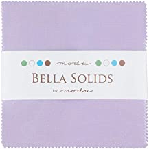 """Bella Solids Lilac Moda Charm Pack by Moda Fabrics; 42-5"""" Quilt Squares"""