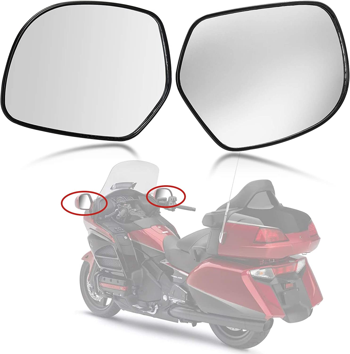 Max 67% OFF psler Free Shipping New Motorcycle Rear view Mirrors 2001- For 1800 GoldWing Honda