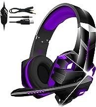 Homyl G9000MAX Fones de ouvido para jogos de 3,5 mm com microfone com cancelamento de ruído - almofadas de espuma de memór...