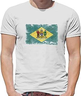 Delaware Grunge Style Flag - Mens T-Shirt - 13 Colours