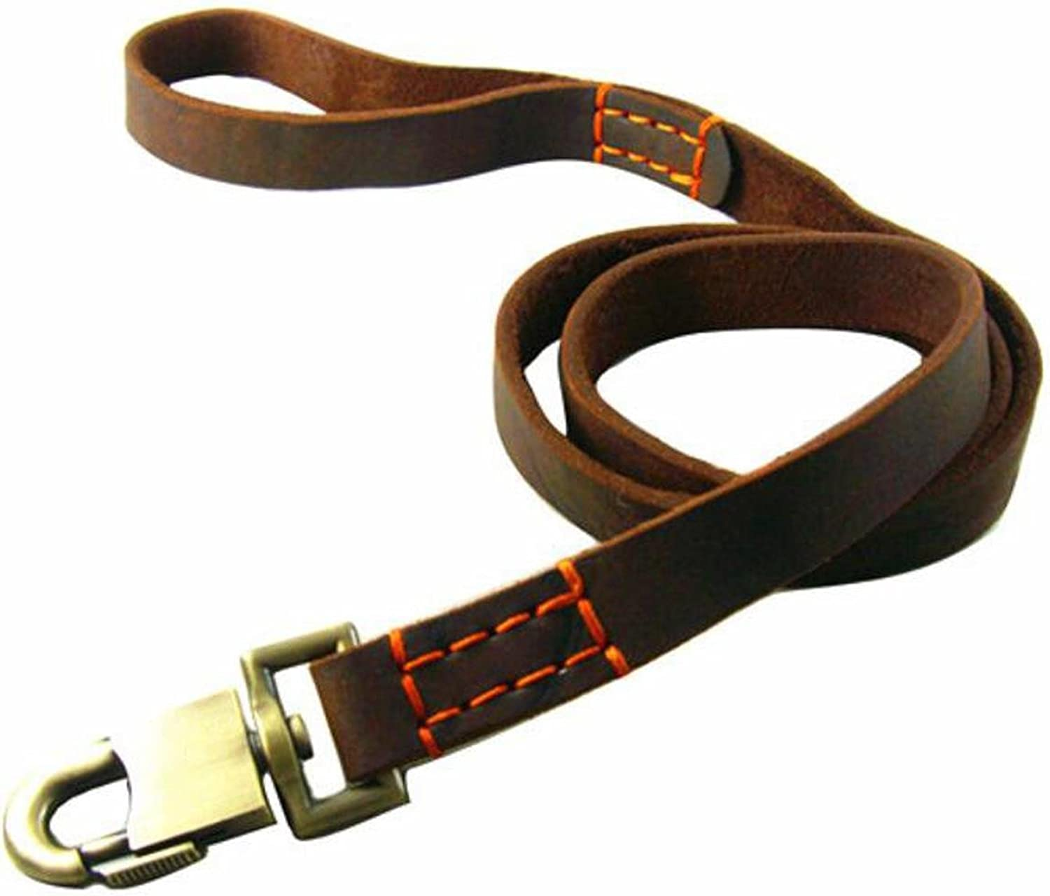 DU&HL Cowhide Dog Rope Widening Dog Chain Dog Supplies Pet Traction Rope