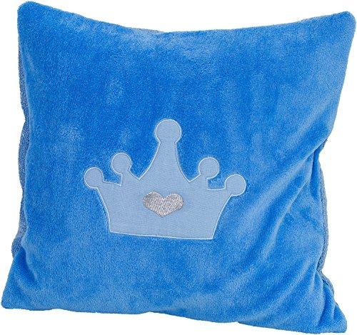 Smithy Kinder Kissenbezug blau aus hochwertiger Baumwolle und Flauschiger Mikrofaser – Öko-Tex zertifizierter weicher Dekokissen Bezug 40 cm x 40 cm