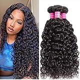 Water Wave Bundles(18 20 22/300Gram) Brazilian Human Hair Wet and Wavy Bundles 100% Unprocessed Virgin Human Hair Extensions Natural Color