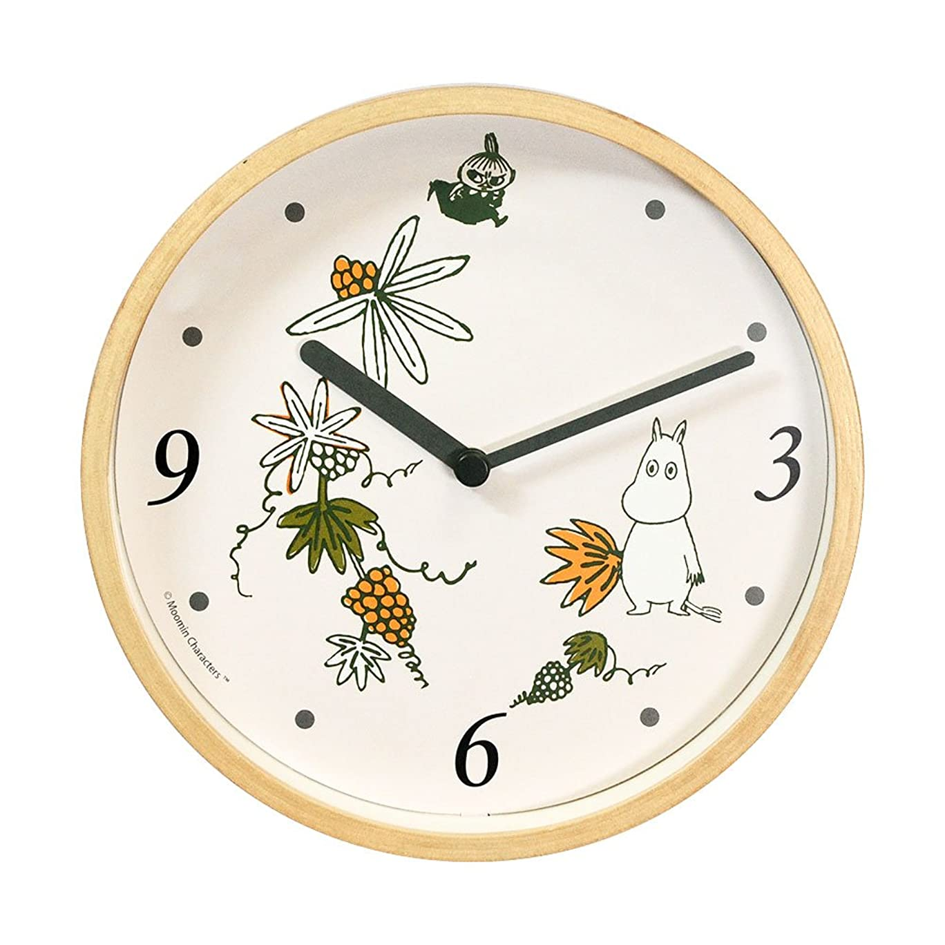 からに変化する個人的な宙返りMoomin Clock ムーミン壁掛けクロック (ロストインバレー)