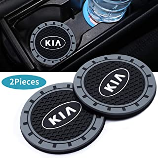 3Inc Tough Car Logo Vehicle Travel Auto Cup Holder Insert Coaster Can for KIA All Models