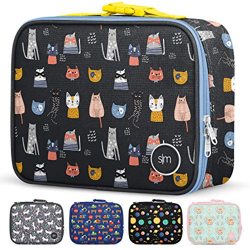Simple Modern Kids Lunch Bag - Insulated Reusable Meal Container Box for Girls, Boys, Women, Men, Small Hadley, Crazy Cats