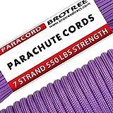 Brotree Paracord 550 Corda da Paracadute a 7 Fili di Tipo III Cavo di Sopravvivenza - Carico di...
