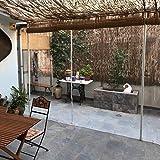 Lonas Impermeable Lonas Transparentes Resistentes, Lona Impermeable Gruesa con Ojal, Cubierta De PVC Plástico Resistente Al Desgarro para Invernadero Porche Terraza, 400G/65(Size:2.4×6m,Color:0.5mm)