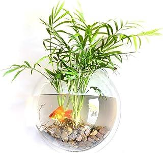Goolsky Home Decoration Wall Mount Fish Tanks Goldfish Bowl Acrylic Hanging Aquariums Flowerpot Flower Vase