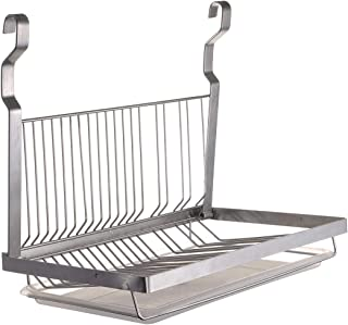 TQVAI Hanging Dish Drying Rack with Drain Board - Stainless Steel