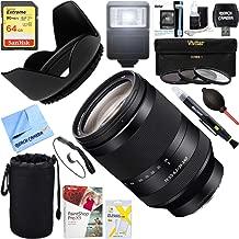 Sony (SEL24240 FE 24-240mm F3.5-6.3 OSS Full-Frame E-Mount Telephoto Zoom Lens + 64GB Ultimate Filter & Flash Photography Bundle