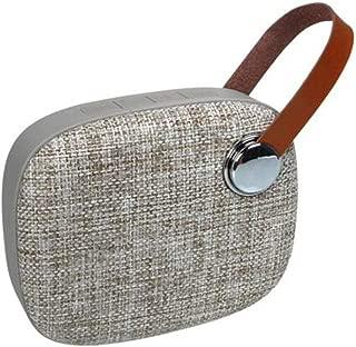 KJRJL Mini Bluetooth Speaker,Cloth Art Bluetooth Speaker,Portable Leather Handle Belt Woofer Stereo TF Bluetooth Portable (Color : Beige)