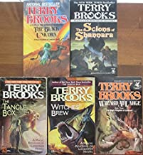 Terry Brooks Set of 5 Books (Scions of Shannara, The Black Unicorn, Wizard at Large, Witches' Brew, Tangle Box)