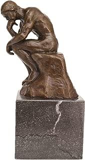 Toperkin Classical Rodin Statue Thinker Bronze Sculpture Home Decor Art Craft TPE-185